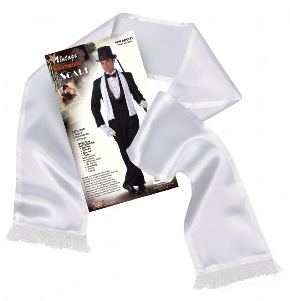 Vintage Hollywood Scarf White